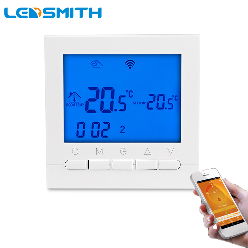 Digital Programmable Heating Thermostat WiFi Smart Thermostat Temperature Controller For Electric Boiler Heating