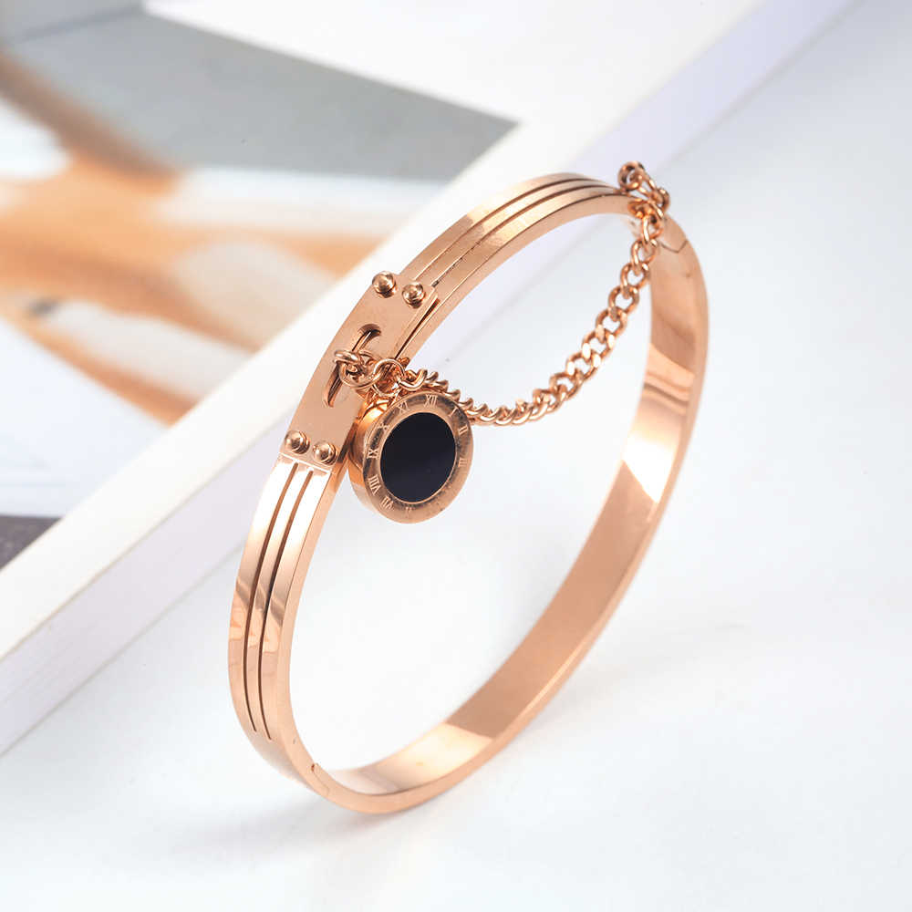 high quality stainless steel bracelets bangles  2019 for women metal luxury minimalist accessories jewelry fashion bangle