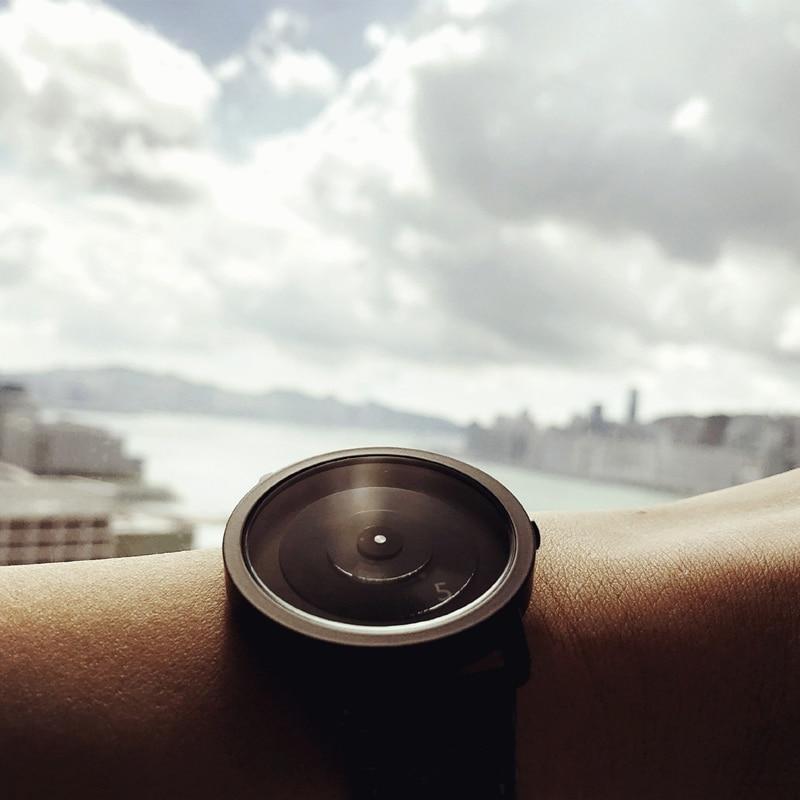 2019 Enmex Creative Style Steel Band Wristwatch Focal Point Special Design Discs Hands Fashion Men Casual Quartz  Watch
