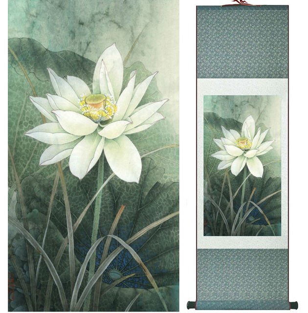 Aliexpresscom Buy Lotus Flower Painting Water Lily Painting
