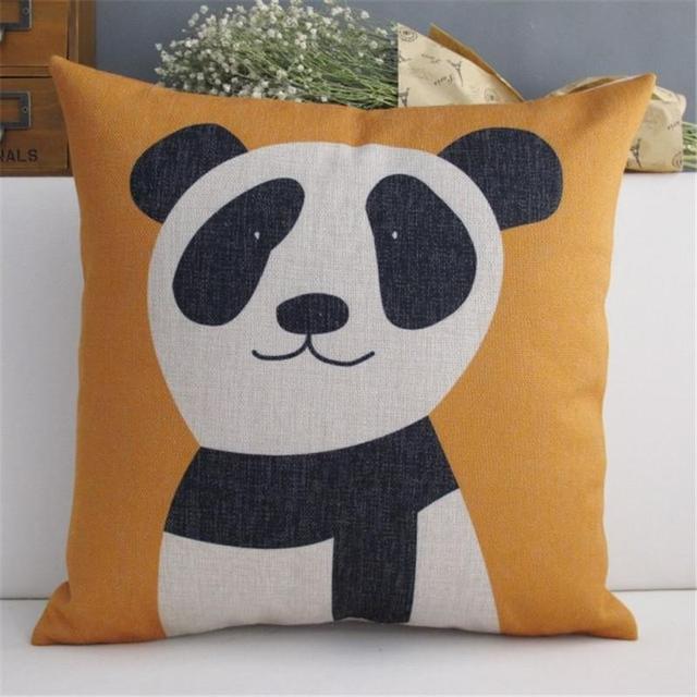 Dipinto a mano elefante Panda Cane Giocoso ufficio cuscini ...