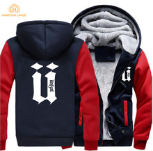 HAMPSON LANQE Hip Hop Streetwear Men 2019 Spring Winter Warm Fleece Sweatshirts Hoodies Mens Fashion Hooded Casual Jacket M-5XL