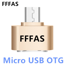 FFFAS 2.0 Alloy Android Micro USB OTG Cable Adapter Mini Converter for usb flash Drive Mouse keyboaed Hand Shank Card Reader PC