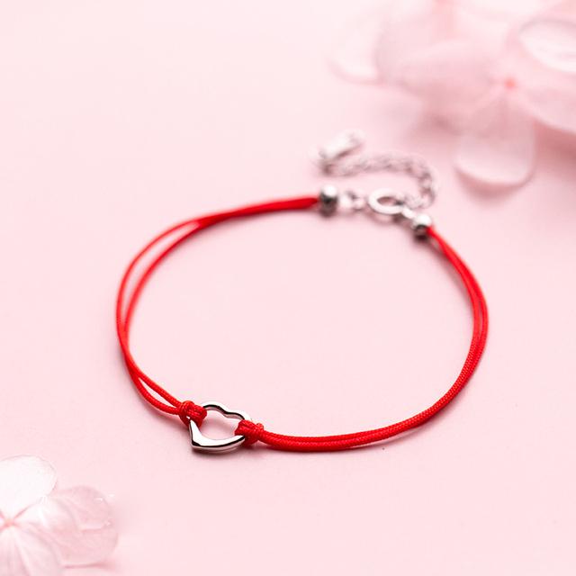 Heart in Red Strings Bracelet