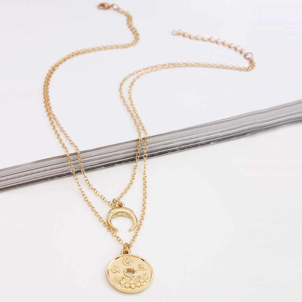 Elegante Moda Ouro Prata Jóias Colar Gargantilha Chunky Cadeia Colar Bib Mulheres Colar Jóias Acessório Pingente de Torque