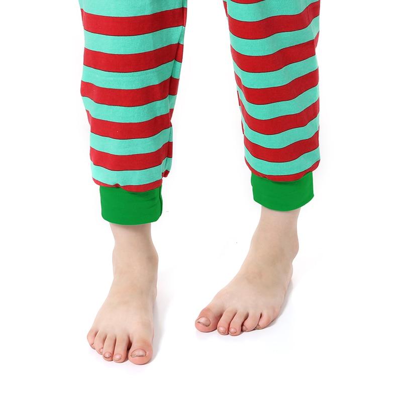 Kaiya Angel Christmas Girls Boutique Outfits Christmas Clothing Set Red Green Green Stripe Shirt Leggings Suit 2 Pcs Pajamas 6