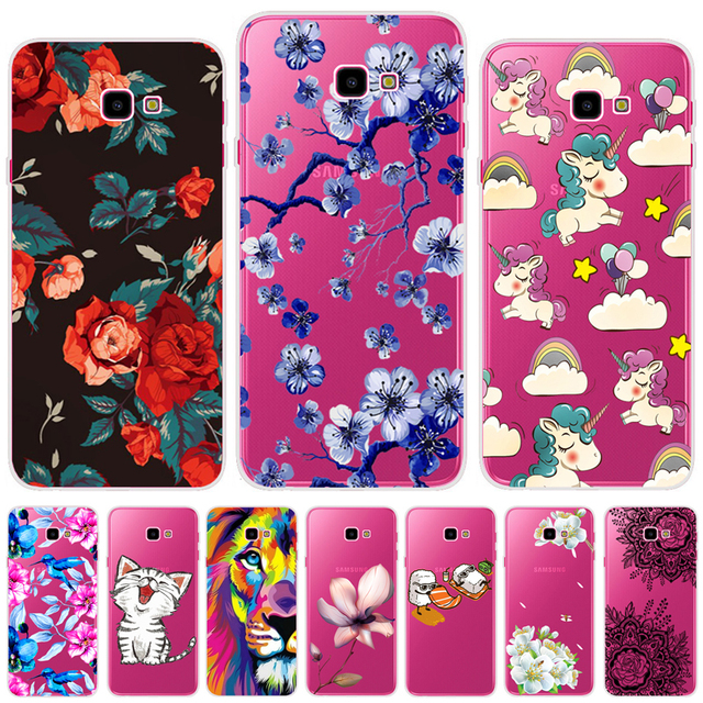 size 40 6fdfd 916fa US $1.8 5% OFF Soft Cases For Samsung Galaxy J4 Plus Case Cover Colorful  Printing Phone Back Cover Fundas For Samsung J4 Plus J4+ SM J410F Case-in  ...