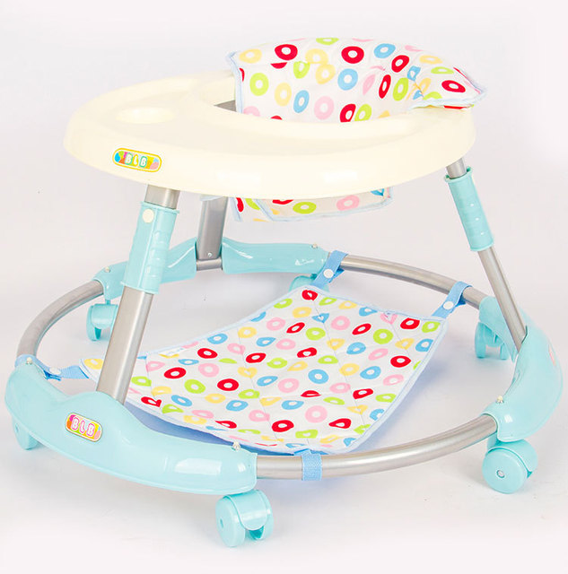 2016 recién llegado de 6-18 meses de bebé walker multifuncional plegable anti vuelco niños mudos de juguetes regalos navidad