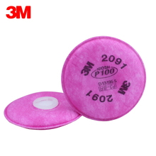 3M 2091 Particulate Filter Cotton P100 Respiratory Protection Filter Applicable 3M 6200 6800 7502 Series Mask Anti Particulates
