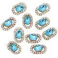 Best Sale 10Pcs 3D Crystal Rhinestones Nail Art Glitters Sticker Tips DIY (Light blue)