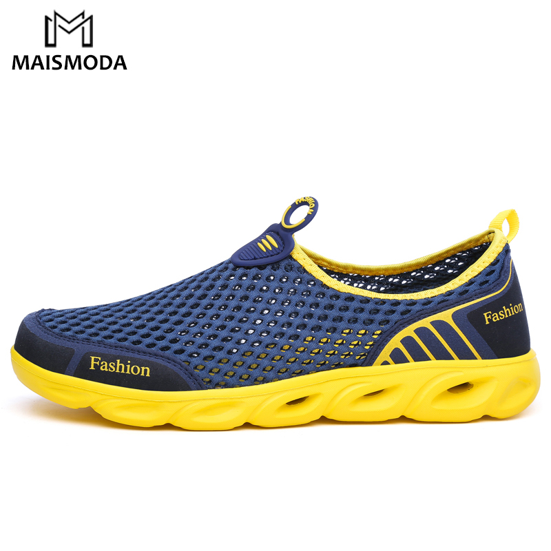 Mens LightweightAqua Water Surf Shoes Hiking Sneakers Slip On Hollow Footwear