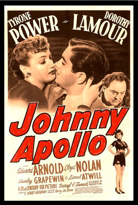Johnny Apollo Classic Movie Film Noir Retro Vintage Poster Canvas Painting DIY Wall Paper Home Decor Gift image
