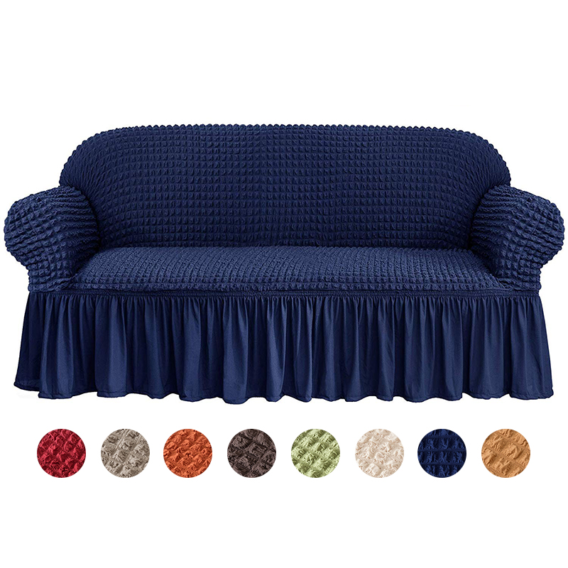 New Jacquard Sofa Slipcover With Skirt European Style Armchair Couch Covers Living Room Furniture Protector Sofa Cover Elastic