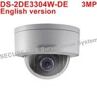גרסה אנגלית DS-2DE3304W-DE 3MP רשת מיני PTZ מצלמה POE IP CCTV המצלמה זום האופטי 4X 2.8-12 מ