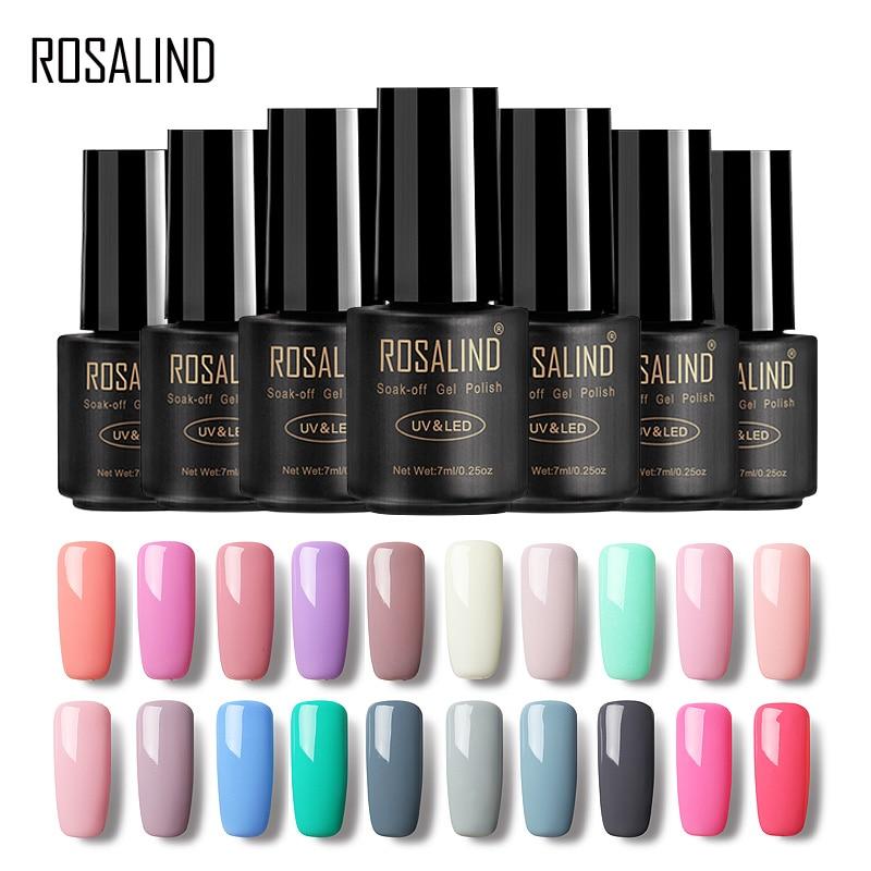 ROSALIND Gel 1 Nail Art Gel 7ML Pure Color 31-58 UV LED Gel Nail Polish Long-lasting Macaron Soak off varnish...
