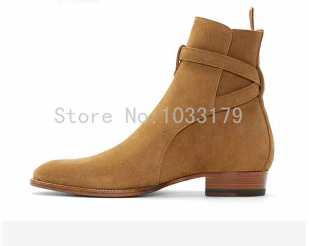 e3b83e56209 ... 2016 Hot Men Suede Men Boots New Handmade Crepe Bottom Kanye West Boots  Martin Shoes Nubuck