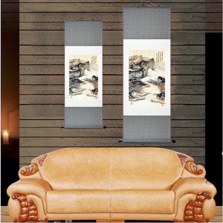 Classic Abstract Art Wall Paintings Oriental Scenery Chinese Painting Silk  Scrolls Home Decor Copy Famous Painter Works 2 Size. Oriental Scroll Art Promotion Shop for Promotional Oriental Scroll
