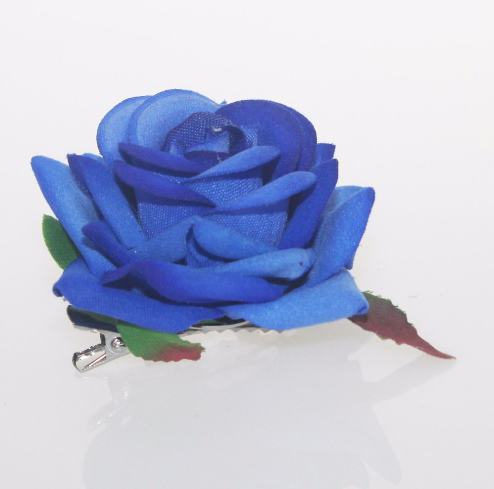 2017 dark blue high quality wedding flower floral hair clip hairpin 2017 dark blue high quality wedding flower floral hair clip hairpin girl hair accessories headwear barrettes woman hair ornament in hair accessories from izmirmasajfo