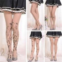 6 Styles Women Tattoo Tights Lolita Fancy Hosiery Cute Patterns Printed Pantyhose Ladies Gifts