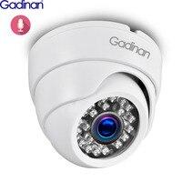 Gadinan H.265 1080P 25fps 1/2. 8 ''SONY IMX307 ip-камера аудио внутренняя ИК Ночная купольная видеокамера оповещение о движении P2P RTSP POE