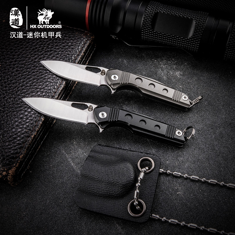 HX Outdoors Neck Folding knife Hunting Outdoors knife Camping Survival Pocket Knives 440c Blade 58Hrc EDC Tools With k Sheath hx outdoors tactical folding knife pocket d2 steel with g10 handle 58hrc camping hunting survival kinves edc tools rescue tool