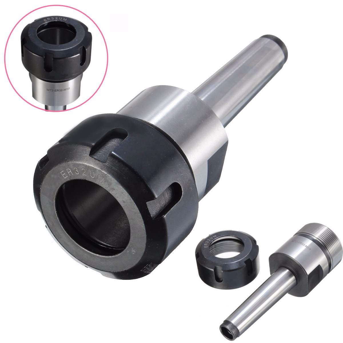 1pcs MT2 ER32 Collet Chuck Morse Taper Tool Holder Machine Tool For CNC Lathe Milling MT2-ER32 Milling Chuck Holder