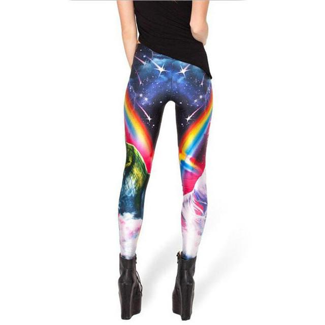 Rainbow 3D Print Unicorn Leggings