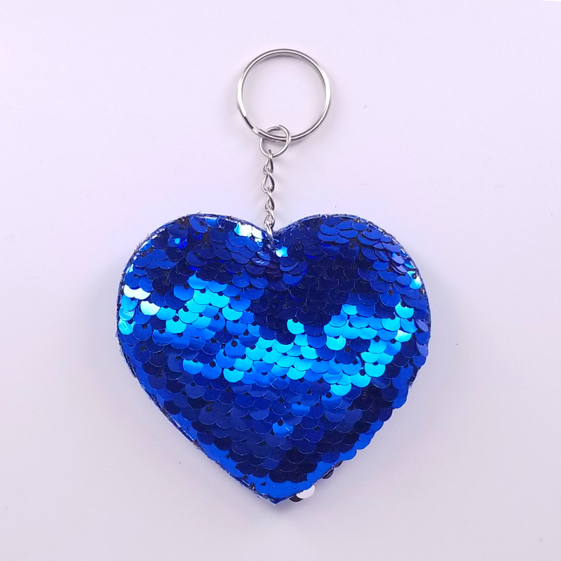 Aqua Heart and Tassel Key Chain Fob Phone Purse Charm