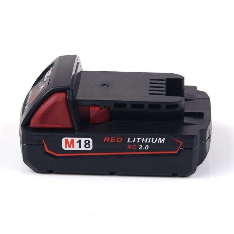 M18 2000mAh High Quality 18V 2.0Ah Li-Ion Replacement Power Tool Battery for Milwaukee M18 48-11-1828 48-11-1815 48-11-1840 replacement power tooll battery for milwaukee 18 volt 4 0ah 48 11 1828 m18 xc red lithium high capacity battery