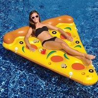 The hot pizza Water floating row Combination pizza Deck chair Floating row PVC inflatable toy Pool party