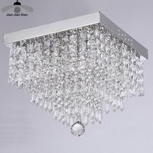 Modern Square K9 Crystal Chandeliers High Power Led Lighting