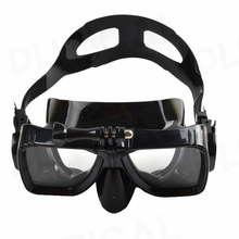 PHTICAL Waterproof Underwater Glass Diving Mask for GoPro HERO 5 Session 4 3+/ SJCAM/Xiaomi Yi Ventilation Mask & Locking Mount