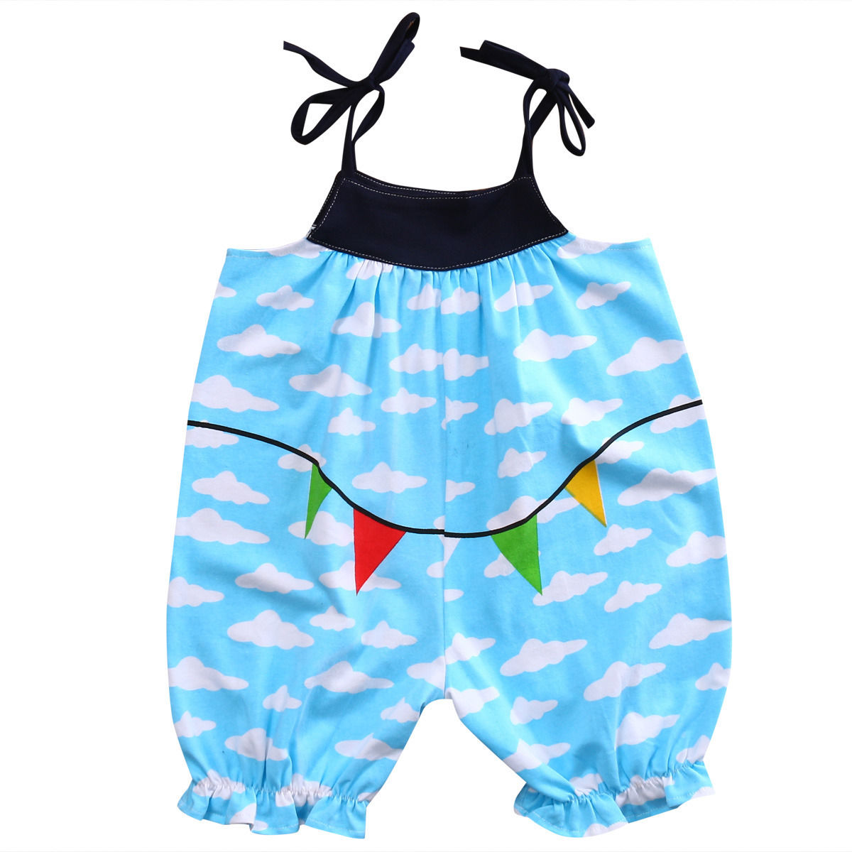 Toddler Kids Baby Girls Jumpsuit Summer Floral Romper Sunsuit OnePieces Outfits