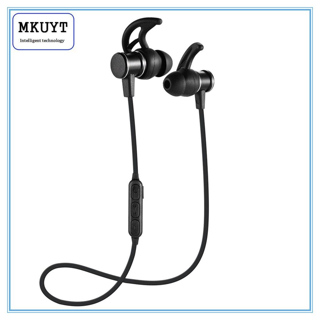 MKUYT Wireless Bluetooth Headphone Magnet Sport headset Ear Hook Earphone Subwoofer Headphones For iPhone Samsung HUAWEI remax s2 bluetooth headset v4 1 magnet sports headset wireless headphones for iphone 6 6s 7 for samsung pk morul u5
