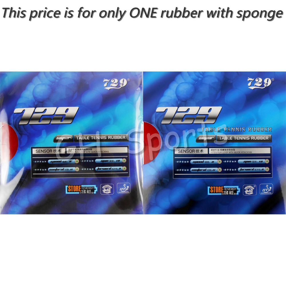 RITC 729 Friendship SUPER FX GuoYuehua Pips-In Table Tennis PingPong Rubber With Sponge