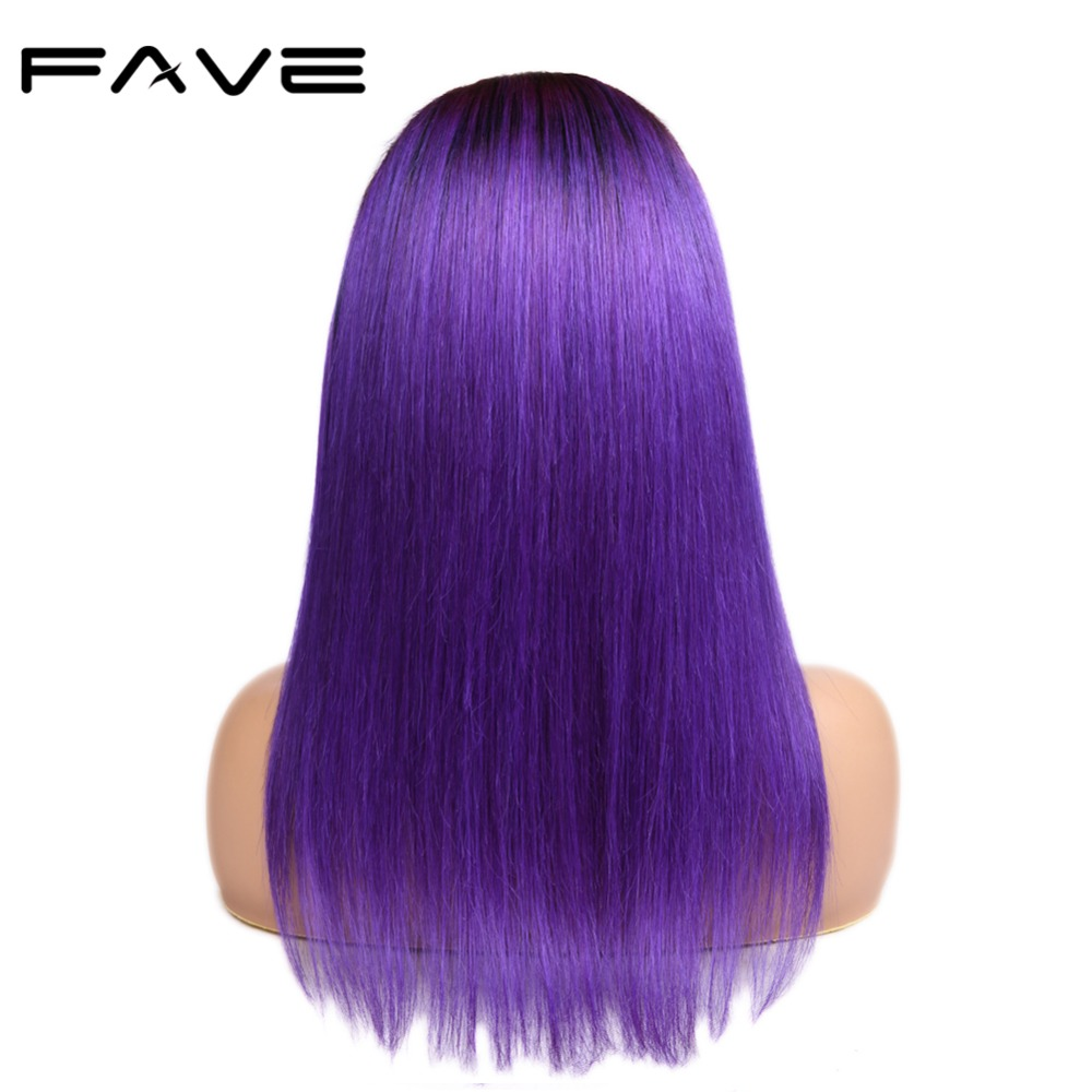 FAVE Hair 13 4 Lace Frontal Straight Ombre Wigs With Baby Hair Pre Plucked Natural Hairline