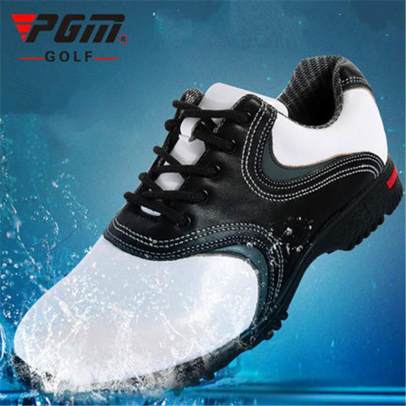 PGM 2017 High Quality Genuine leather Golf Shoes Men High Breathable Ultra Soft Waterproof Outdoor Golf Shoes Sneakers high quality authentic famous polo golf double clothing bag men travel golf shoes bag custom handbag large capacity45 26 34 cm