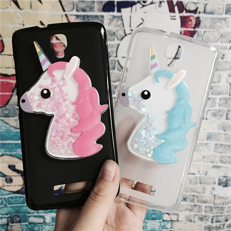 Galleria fotografica 3D Unicorn Quicksand Liquid Soft Silicone Case for ZTE Blade L5 / L5 Plus Phone Cover Cartoon Diamond Funda Coque Fashion Owl