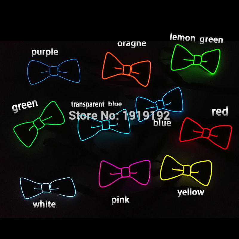 2019 Steady on 10 Color Fashion Design Glowing Flashing bow tie led DJ 39 s EL bow Tie for party bar club DJ in Glow Party Supplies from Home amp Garden