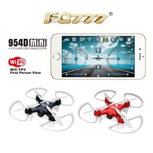 FQ777-954D WIFI FPV Drone with Camera Altitude Hold Mode 3D Flip 6-AXIS RC Nano Quadcopter BNF APP control F17862/63