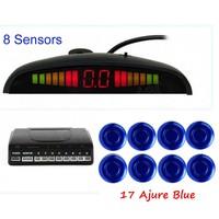Car Parking Sensor With LED Display Monitor 8 Sensors 44 Colors For Choice Buzzer Alarm Parktronic