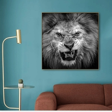 Angry Lion Animals Print Canvas Painting & Calligraphy Decoration Pictures Posters For House Living Room Bedroom Home Wall Art