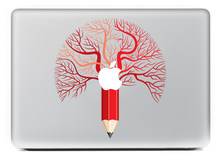 Bomen potloden DIY Persoonlijkheid Vinyl Decal Laptop Sticker macbook Pro Air 13 inch Cartoon laptop Skin shell voor mac boek(China)