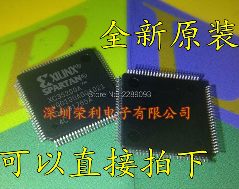 Free Shipping! New Origianl XC3S200A-4VQG100C XC3S200A IC FPGA 68 I/O TQFP-100 1pcs xc3s1600e 5fg484c xc3s1600efg484 ic fpga 376 i o 484fbga bga in stock 100%new and original