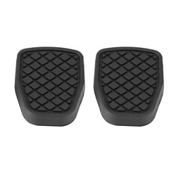One Pair Brake Clutch Pedal Rubber PadSurface finish adopted automotive grade thermoplastic rubber high toughness wear resistant