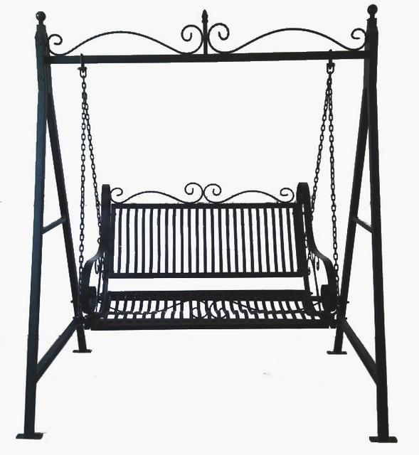 Double Iron Chiaki basket outdoor swing chair swing ...