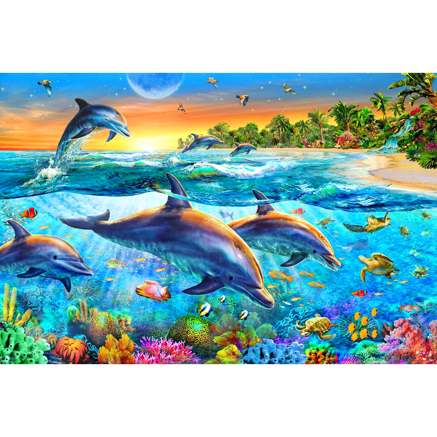 Full Square/Round Drill 5D DIY Diamond Painting Sea World Dolphin 3D Embroidery Cross Stitch 5D Rhinestone Decor giftFull Square/Round Drill 5D DIY Diamond Painting Sea World Dolphin 3D Embroidery Cross Stitch 5D Rhinestone Decor gift