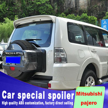 For Mitsubishi pajero V73 spoiler 2009 to 2017 high quality ABS material double-clip big spoilers by primer black white paint