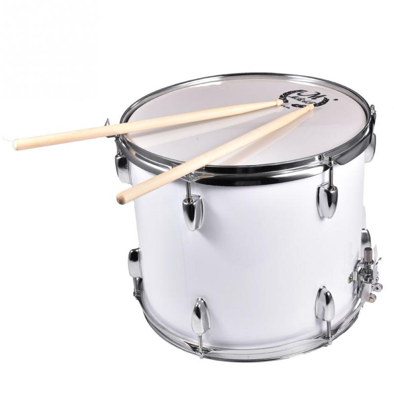 15.9in Marching Drum Stainless Steel Marching Snare Drum Kit Bag Drumsticks Shoulder Str ...