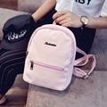 Minería sólido mochila mochila femenino de Corea 2016 nueva moda de doble propósito de Mini Mochila Bolsa
